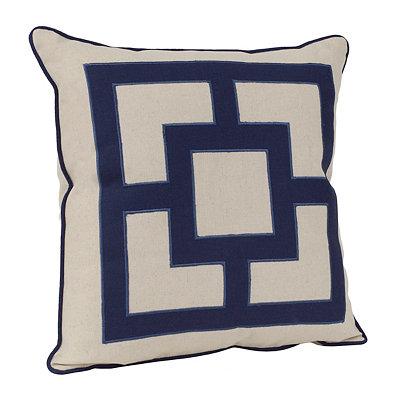 Rylan Indigo Squares Pillow