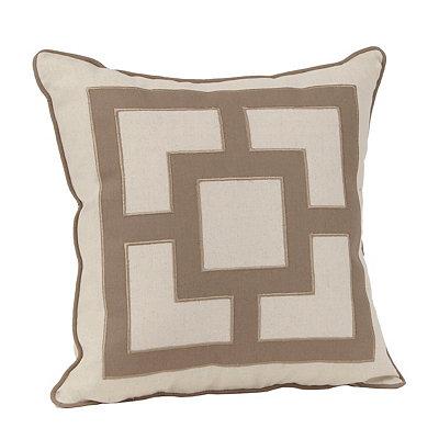 Rylan Khaki Squares Pillow