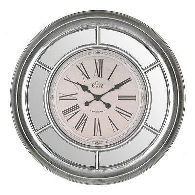 Antique Silver Mirrored Clock