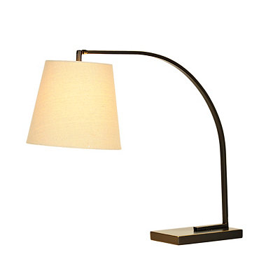 Slim Arch Black Task Lamp