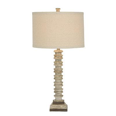 Torola Cream Ribbed Table Lamp