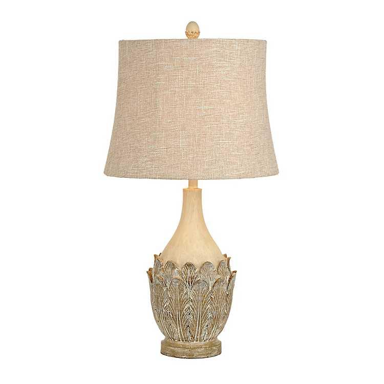 Cream Leaves Table Lamp