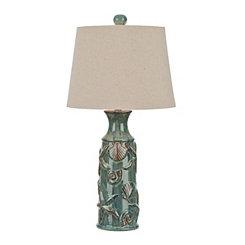 Blue Bay Embossed Table Lamp