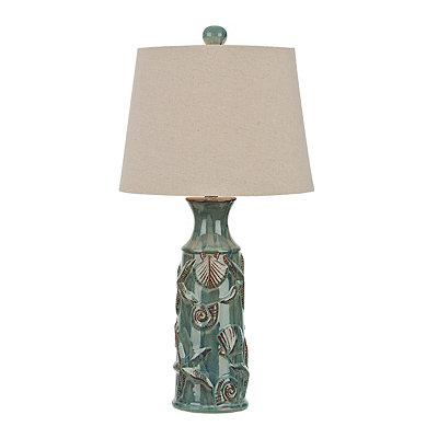 Blue Bay Embossed Table Lamp