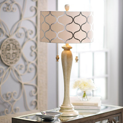 Pearlized Curves Table Lamp