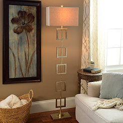 McCauley Metallic Squares Floor Lamp
