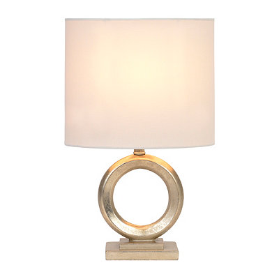 Champagne Circle Table Lamp