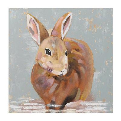 Brown Cottontail Rabbit Canvas Art Print