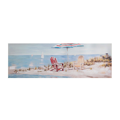 Time Away at the Seaside Canvas Art Print