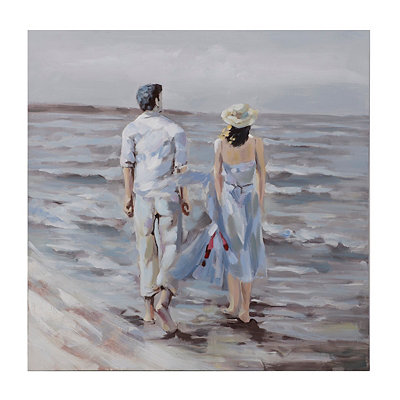 Long Walk on the Shore Canvas Art Print