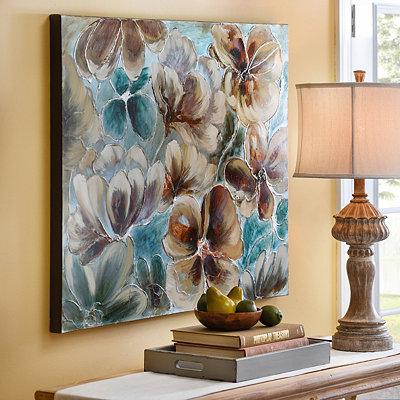 Floral Shimmer Canvas Art