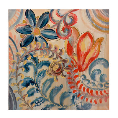 Swirling Flowers Canvas Art Print