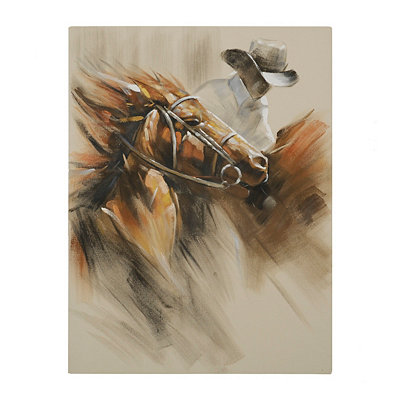 Ride 'Em Cowboy Canvas Art Print