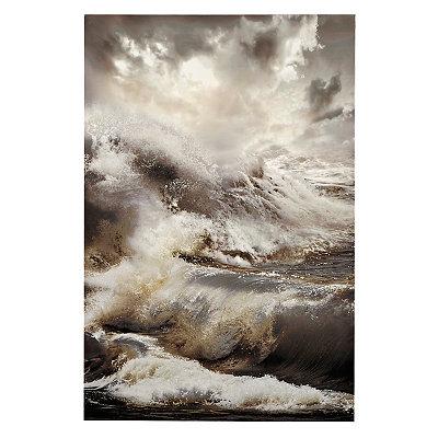 Roaring Waves Canvas Art Print