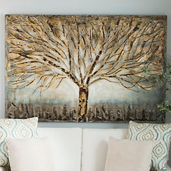 Gold Branches Canvas Art