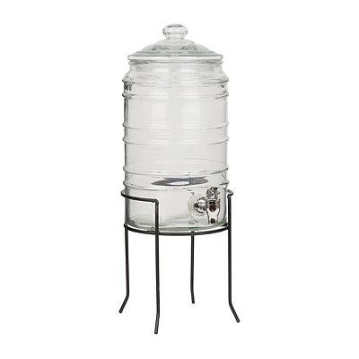 Ribbed Barrel Beverage Dispenser