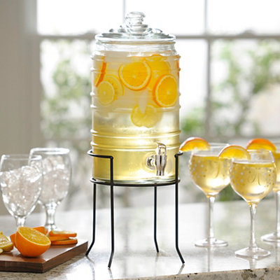 Ribbed Barrel Beverage Dispenser