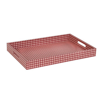 Red Gingham Serving Tray