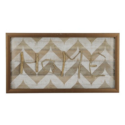 Natural Chevron Home Shadowbox