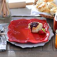 Red Sweet Olive Dinner Plate