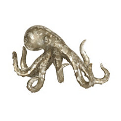 Distressed Silver Octopus Figurine