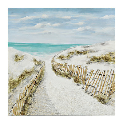 Sandy Pathways Canvas Art Print