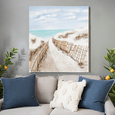 Sandy Pathways Canvas Art