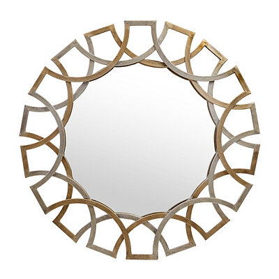 Antique Gold and Silver Jaxson Mirror