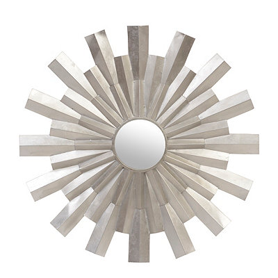 Metallic Silver Sunray Mirror