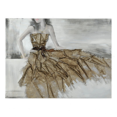 Graceful Dress Canvas Art Print