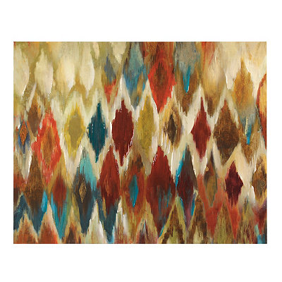 Diamond Ikat Canvas Art Print