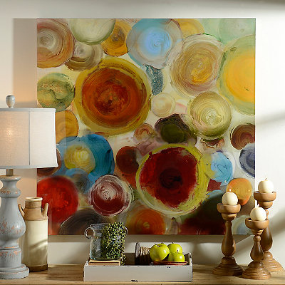 Watercolor Circles Canvas Art Print