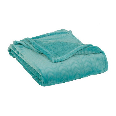 Embossed Aqua Throw Blanket
