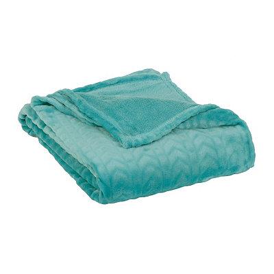 Embossed Aqua Throw Blanket