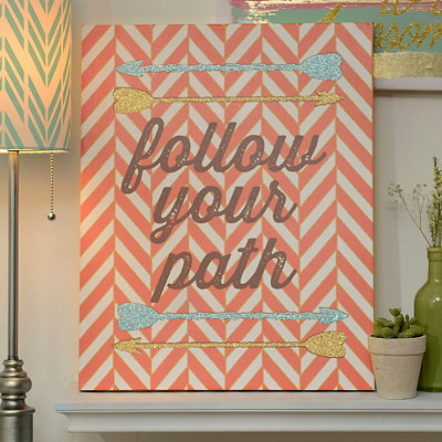 Glitter Follow Your Path Canvas Art Print