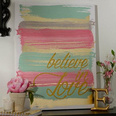 Believe in Love Canvas Art Print