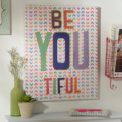 Glitter Be You Tiful Canvas Art Print