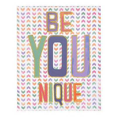 Glitter Be You Nique Canvas Art Print