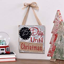 Countdown to Christmas Chalkboard Plaque