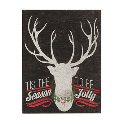 Tis the Season Glittery Plaque