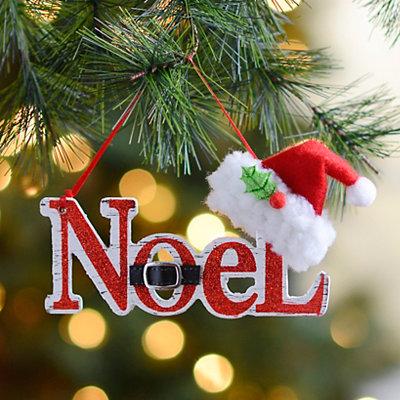 Noel Santa Hat Ornament