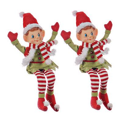 Pixie Elf Ornaments, Set of 2