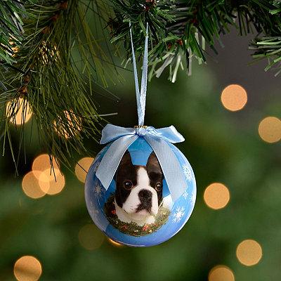 Shatterproof Boston Terrier Ornament