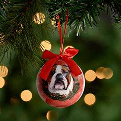 Shatterproof Bulldog Ornament