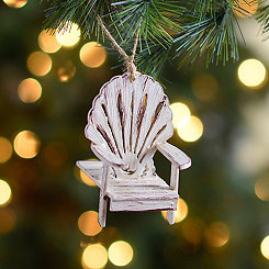 Distressed Ivory Beach Chair Ornament