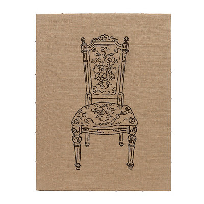 Flea Market Chair I Burlap Art Print