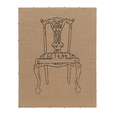 Flea Market Chair III Burlap Art Print