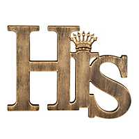 Gold His Jeweled Crown Plaque