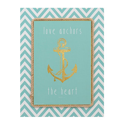 Love Anchors the Heart Canvas Art Print
