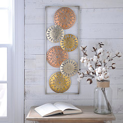 Metallic Circles I Metal Plaque